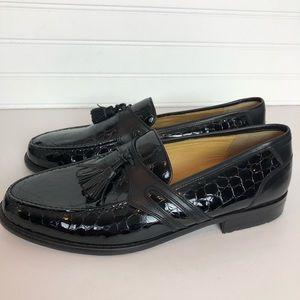 Johnston & Murphy Black Loafers